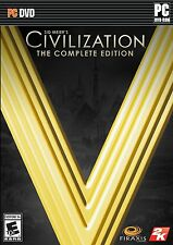 Sid Meier's Civilization V 5 The Complete Edition  (PC, 2014) Brand New Sealed