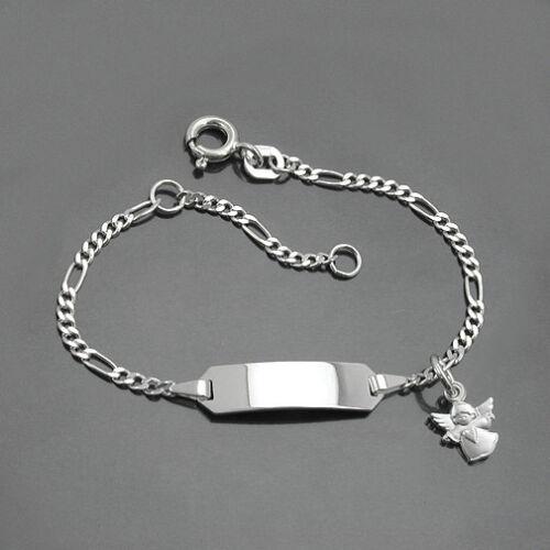 Baby Taufe Armband Schutz Engel Herz Silber 925 mit Gravur von Name und Datum