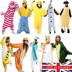 Hot-Fancy-Dress-Cosplay-Onsie1-Adult-Unisex-Hooded-Pyjamas-Animal-Sleepwear-UK