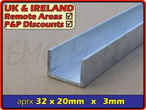 "Aluminium Channel║1.25"" x 0.75""║(C U section, gutter, profile,edging,alloy)"