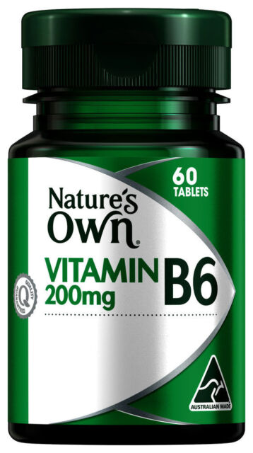 Natures Own Vitamin B6 200Mg Tablets 60