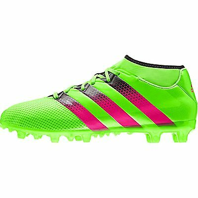 new concept f0570 8e247 ADIDAS ACE 16.3 PRIMEMESH FG/AG MENS SOCK FOOTBALL BOOTS GREEN | eBay