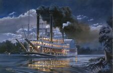 """""""Robert E. Lee"""" by Tom Freeman - Famous Steamboat on the Mississippi - Riverboat"""