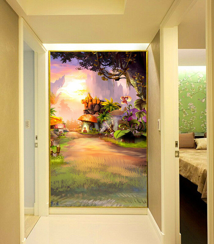 3D House Lawn Path 84 Wallpaper Mural Paper Wall Print Wallpaper Murals UK Lemon