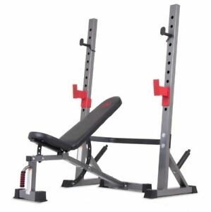 Miraculous Details About Weight Bench Squat Rack Olympic Workout Adjustable Home Gym Lifting Cage Muscle Lamtechconsult Wood Chair Design Ideas Lamtechconsultcom