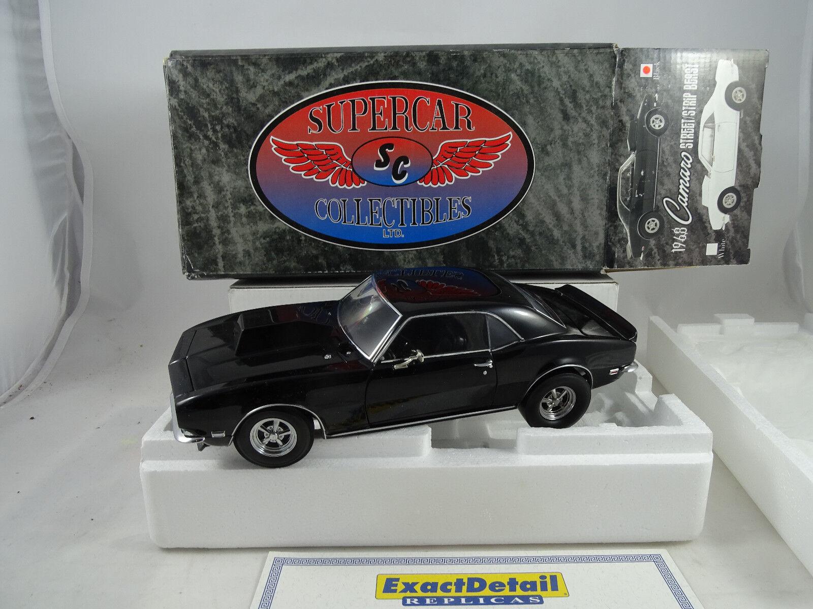 1:18 Esatto Dettaglio 229 Supercar 1968 Camaro Street/Striscia Bestia Nero
