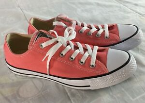 f56e4cb9ff22 Converse All Star Chuck Taylor All Star Mens Size 8 Peach Pink Low ...