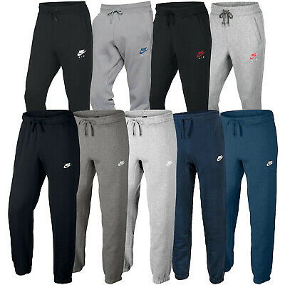 Nike Mens Tapered Club Joggers Air Fleece Tracksuit Bottoms Jogging Sweatpants | eBay