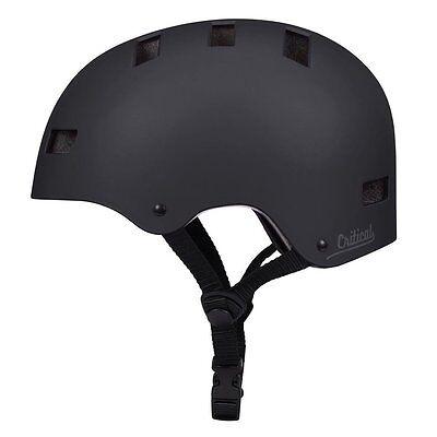 Critical Cycles Classic Commuter CM-1 Helmet, Matte Black, Medium, 55-59cm