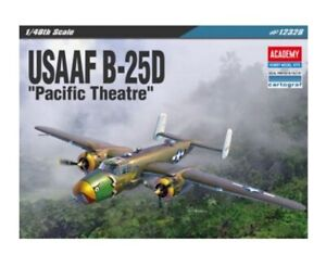 Academy-USAAF-B-25D-1-48-Pacific-Theatre-12328-Aircraft-Plastic-Model-Kit-NK