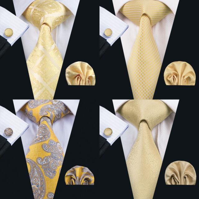 Men/'s Hi Tie Silk Classic Necktie Set Novelty Jacquard Wedding Party Wedding F/&S