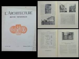 L'ARCHITECTURE 1933 GRASSE LEON LE BEL, TEMPLE AUTEUIL, PARIS 36 AVENUE KLEBER, - France - EBay librr L'Architecture - n5 - 1933 contient notamment six pages sur le bureau de poste du 7 boulevard Haussmann Paris (Arch. Labro), quatorze page sur l'architecture de Léon Le Bel Grasse, huit pages sur un immeuble pour Alstom Paris - 36-38  - France