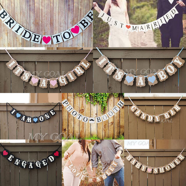 Bunting Banner Baby Shower Wedding Party Garland Photo Props XMAS Hanging Decor