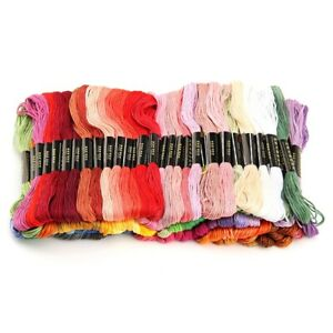50pcs-Colors-Cross-Stitch-Cotton-Embroidery-Thread-Sewing-Floss-hot-Skeins