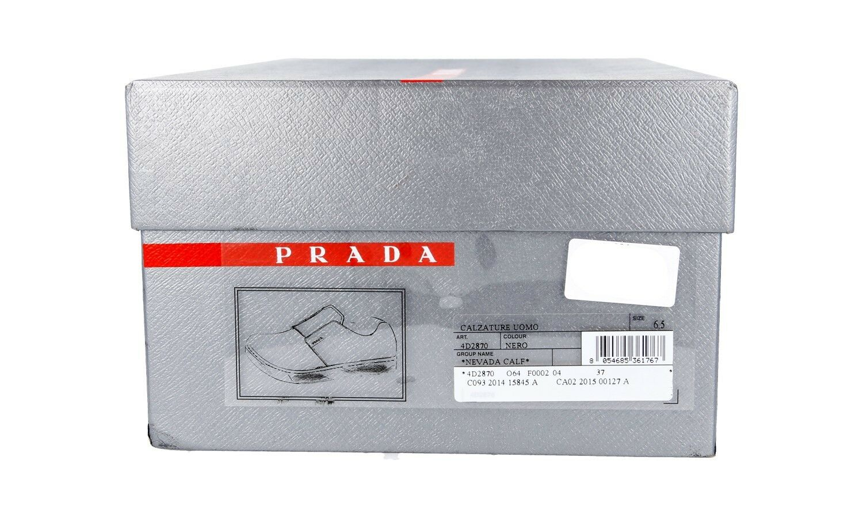 SCARPE SCARPE SCARPE PRADA LUSSO 4D2870 NERO NUOVE 6,5 40,5 41 1c7713