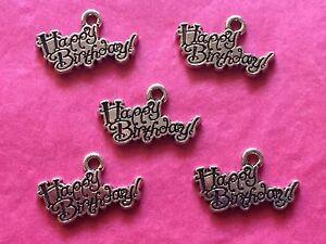 Tibetan Silver Happy Birthday Charms 5 per pack eBay