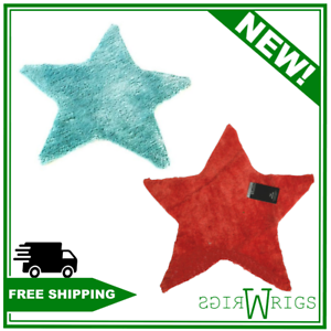 Catherine Lansfield STAR SHAPE RUG - MINT/RED - Kids - 65cm x 65cm non slip