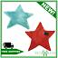 thumbnail 1 - Catherine Lansfield STAR SHAPE RUG - MINT/RED - Kids - 65cm x 65cm non slip