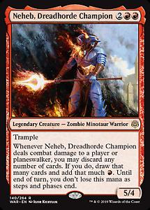 140 Neheb Dreadhorde Champion War of the Spark Mtg x4 4x WAR Magic