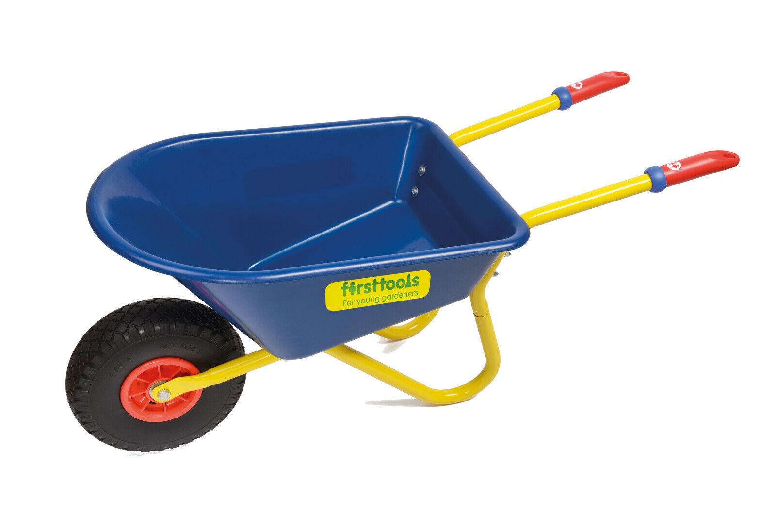 First Tools Schubkarre Kinder blau gelb Neu Kunststoff stabil ab 3 J KIGA  KITA