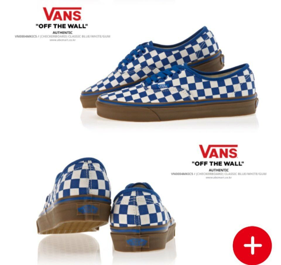 Vans Authentic Checkerboard Sz 6.5 bluee White Gum 100% AUTHENTIC