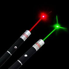 2pcs 5MW 532nm Green Laser Pointer + 650nm Lazer Ray Red Laser Pointer Pen USA