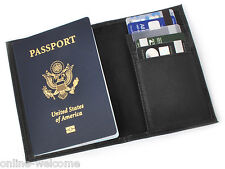 New Black US Passport Cover ID Holder Travel Wallet Organizer Card Case