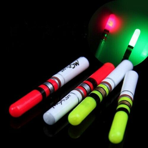 1x LED Knicklicht Nachtangel Aal Zander Gelb oder Rot incl Batterie