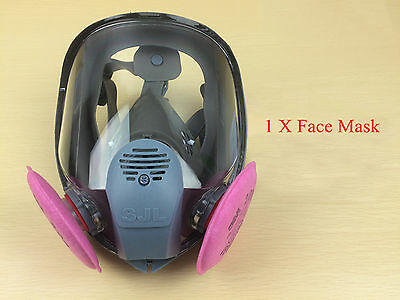 NEW Gas Mask Full Face Facepiece Respirator Mask Painting Spraying USA!