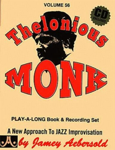 JAMEY AEBERSOLD-THELONIOUS MONK:JAZZ PLAY-A-LONG VOL.56 MUSIC BOOK//CD BRAND NEW!
