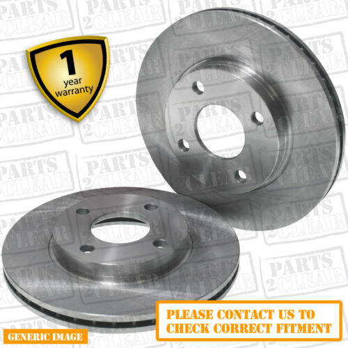 Front Vented Brake Discs BMW 3 Series 325 Ci Convertible 2000-05 2HP 300mm