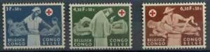 Belgian Congo**RED CROSS-CROIX ROUGE-RODE KRUIS-3vals-1960-Doctor-Nurse