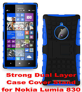 Blue-Strong-Tough-Durable-Tradesman-TPU-Case-Cover-Stand-for-Nokia-Lumia-830