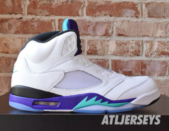 420caa2e5aaa25 Nike Air Jordan 5 Retro NRG Fresh Prince Emerald Grape Av3919-135 Sz ...