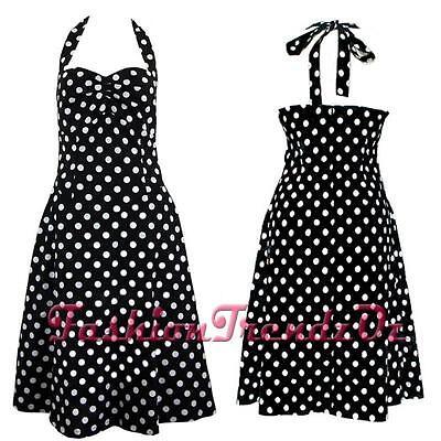 Rockabilly PinUp 50s Polka Dot Casual Vintage Retro Swing Dress 8 - 28 plus