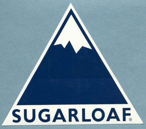 2 SUGARLOAF MAINE SKI SNOWBOARD AREA RESORT MOUNTAIN STICKER DECAL