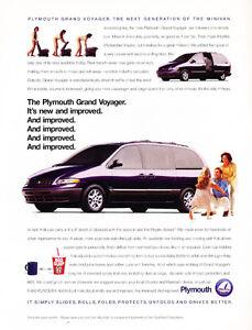 Plymouth Grand Voyager Van Classic Car Advertisement Print Ad - Classic car ads