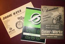 Motorrad Prospekt Konvolut Hoffmann -  Ardie  -  Geier