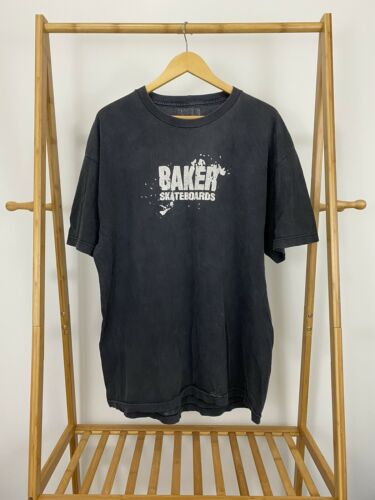 VTG Y2K Baker Skateboards Skate Faded Short Sleeve