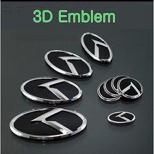 (Fits: HYUNDAI Veloster) K logo 3D Emblem 7pc SET(Front+Rear+Steering+WheelCap)