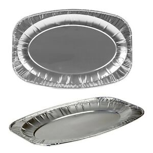 Oval Aluminium Serving Food Foil Platter Tray Sandwich Buffet Disposable Party - Rochdale, Lancashire, United Kingdom - • 100% Satisfaction Guaranteed • Your Right to Cancel: 14 days - FULL REFUND • Faulty within 30 days: Full Refund or Repair Shipping and handling charges: Cancelled orders - The buyer must pay for shipping and  - Rochdale, Lancashire, United Kingdom