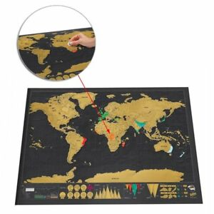 Scratch Off Map World Deluxe Personalized Travel Poster Travel Atlas AU Post 5060146091787