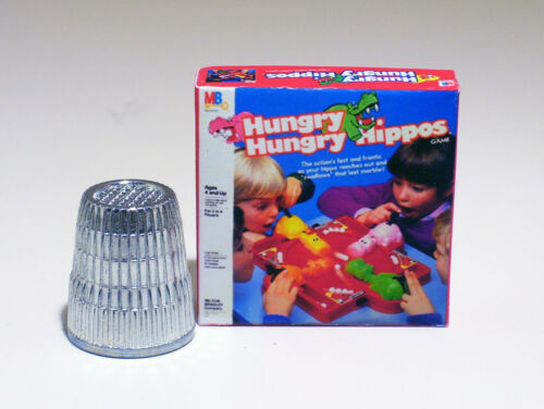 Dollhouse Miniature 1:12  Hungry Hungry Hippos Game 1970s 1980s Dollhouse toy
