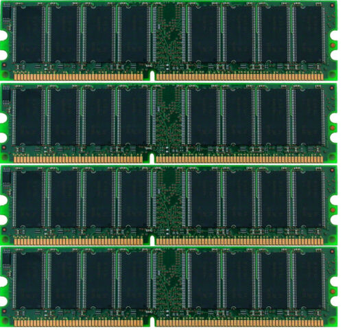 1GB 2GB 3GB 4GB Branded Memory DDR1 333//400 MHz PC3200 PC2700 DIMM 184-pol