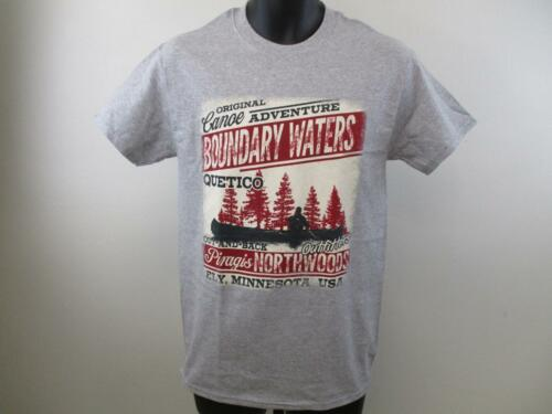 NEW Boundary Waters Ely MN Minnesota Adult Mens Size S Small Gray Shirt