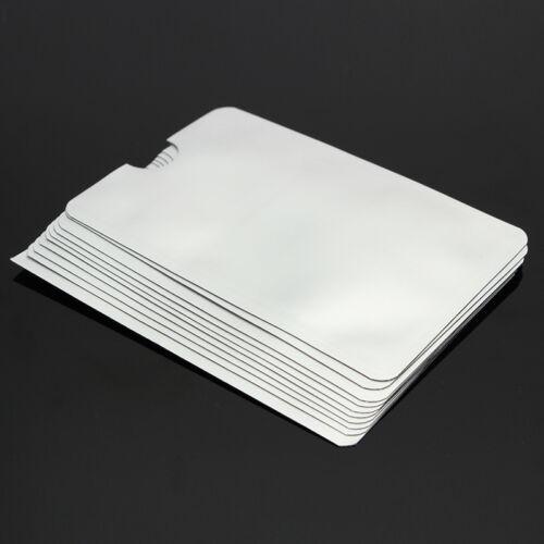 Anti Theft Credit Card Protector RFID Blocking Aluminum Safety Sleeve Shield 10x