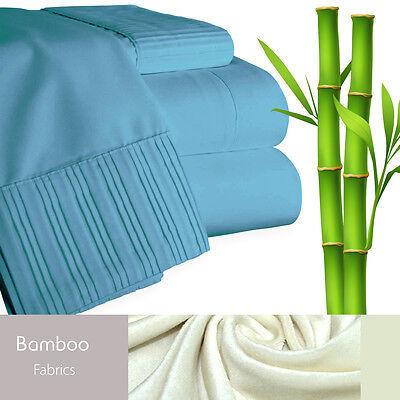 Bamboo Living Eco-Friendly 6 Piece Bedding Soft Sheet Set - King - Blue