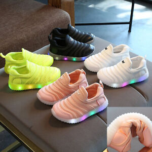 Kids-Toddler-Boys-Girls-Trainers-Shoes-Children-Baby-LED-LIGHT-UP-Casual-Sneaker