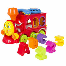 Bump and Go Action Learning Train Lights and Music Block Letters Shape Sorter