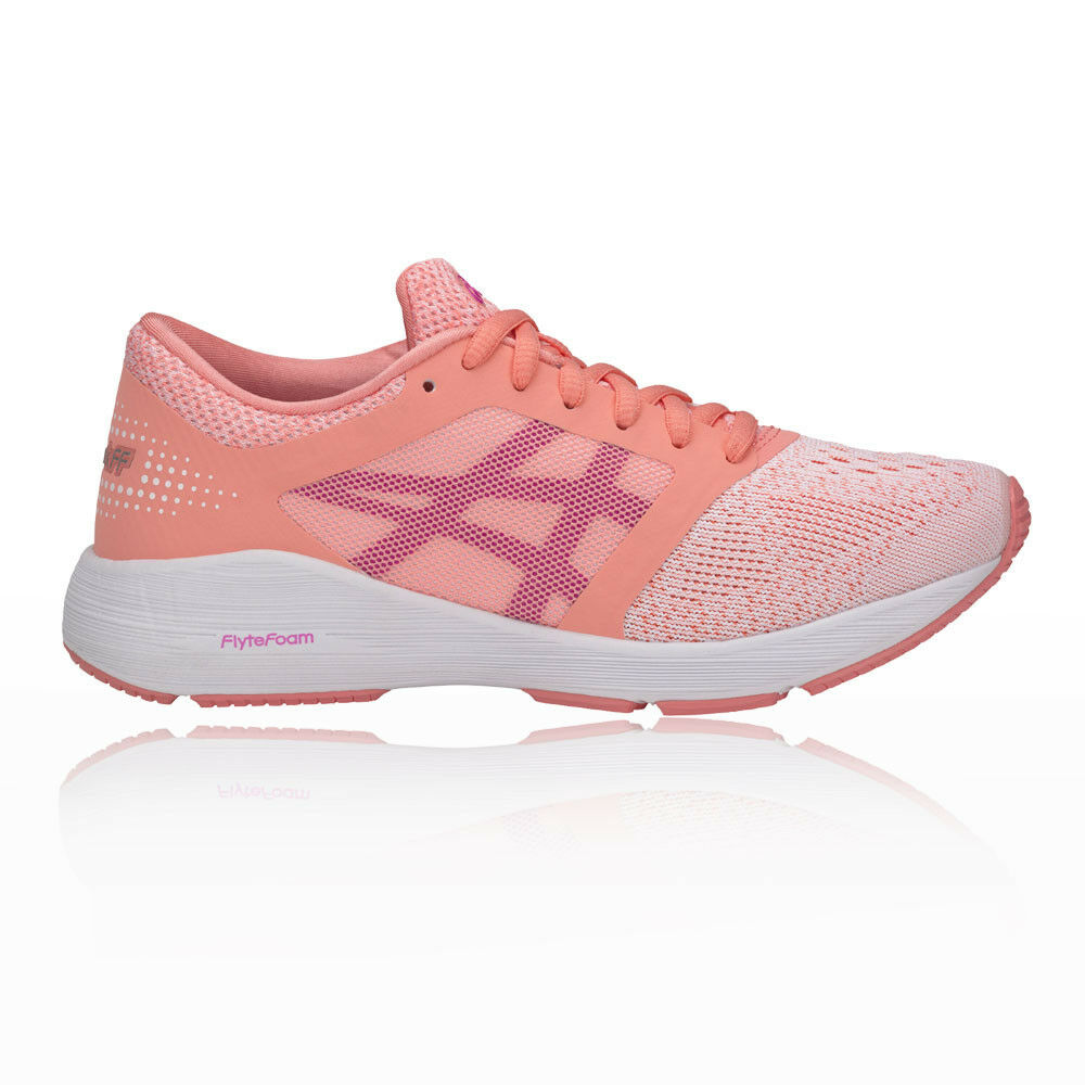 Asics Girls Roadhawk FF GS Junior Running shoes Trainers Sneakers Pink Sports